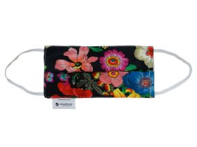 Flowers Print Silk With Organic Cotton Face Mask For Children & Adults