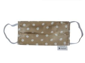 Cooling Silk Face Mask And Organic Cotton Gold Dots Print For Children & Adults