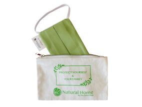 Washable Cotton Face Mask Carrying Case With Zipper