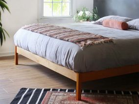 The B Flat (Urban Retreat) Natural Bed Frame Cherry - Choose Size