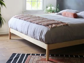 The B Flat (Urban Retreat) Natural Bed Frame Maple - Choose Size