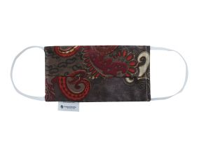 Paisley Brown Organic Cotton and Silk Face Mask For Children & Adults