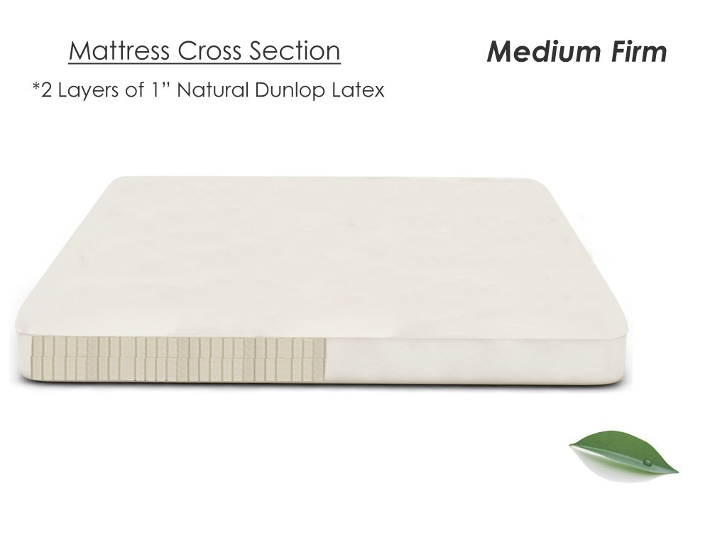 Wool And Latex Mattress Topper Natural Latex Topper Quilted Latex Topper The Futon Shop