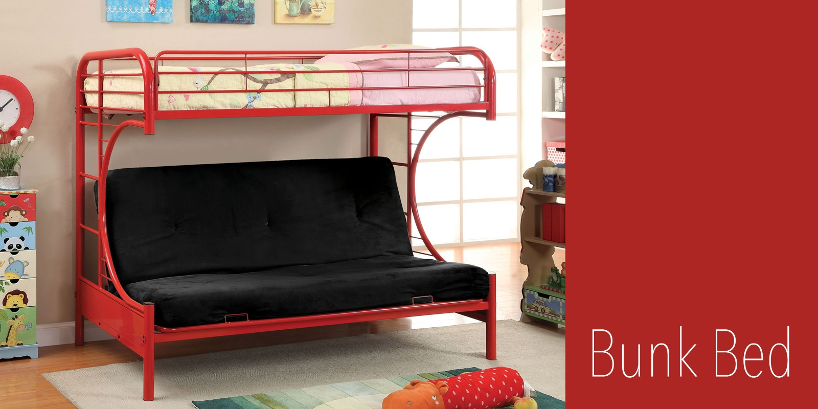 Bunk Bed With Double Futon Underneath